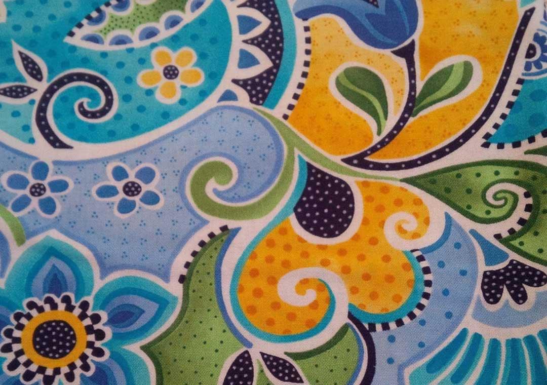 Blue Mutli-Floral