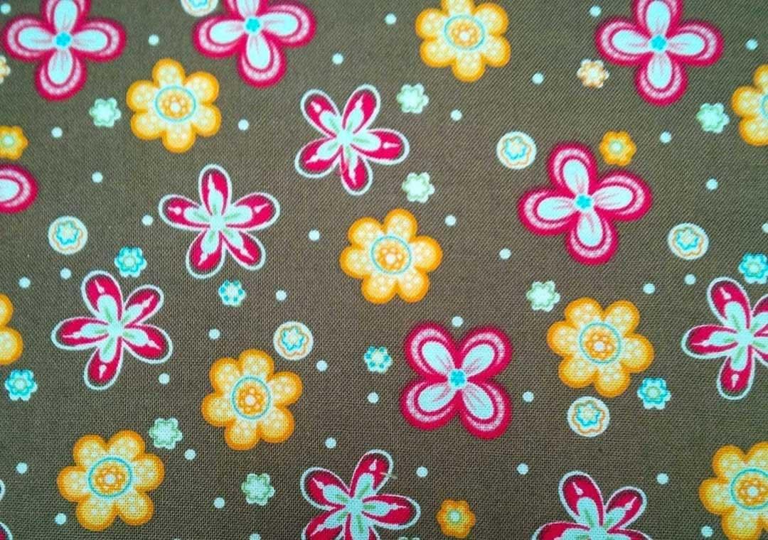 Brown Multi-Floral