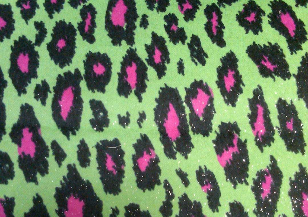 Pink Lime Cheetah (Silver-Sparkles)