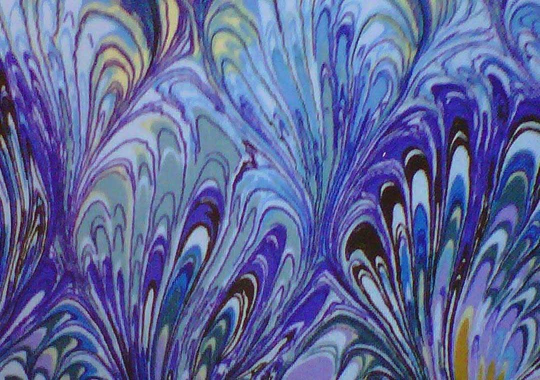 Purple-Marble Swirl