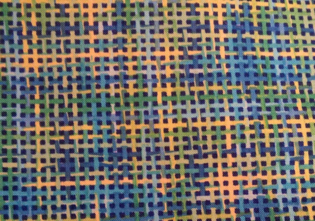 Woven Blue-Lime-Yellow