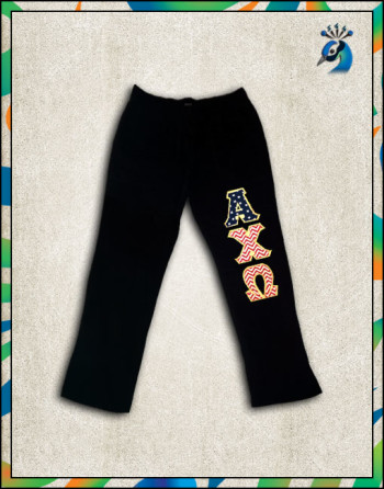 Open Bottom Sweatpants w/Pocket USA Stars