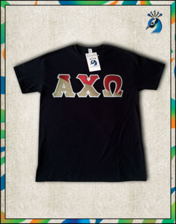 Diagonal Letters Crewneck Short-Sleeve T-Shirt