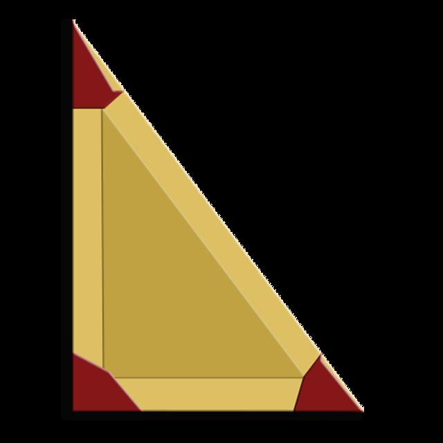 Acacia (fraternity) Symbol - 3-4-5 Right Triangle of the 1st Quadrant