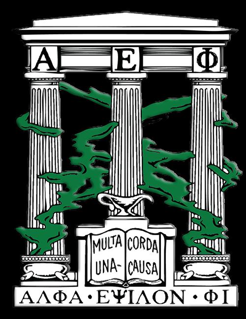Alpha Epsilon Phi Symbol/Crest — Ancient Greek Columns