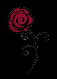 Alpha Omicron Pi Flower - Rose