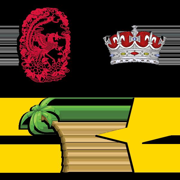 Alpha Sigma Alpha Symbols - Phoenix, Crown, Palm Tree, and Star