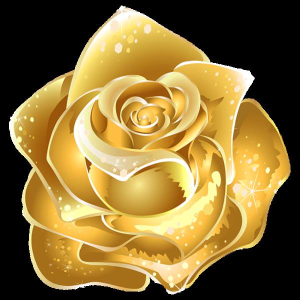 Beta Sigma Psi Flower - Gold Rose