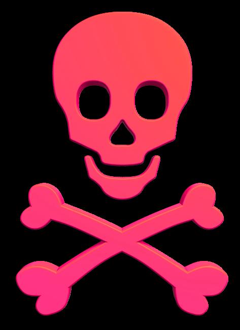 Chi Omega Symbol - Skull and Crossbones