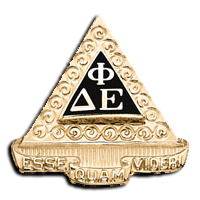 Delta Phi Epsilon Badge