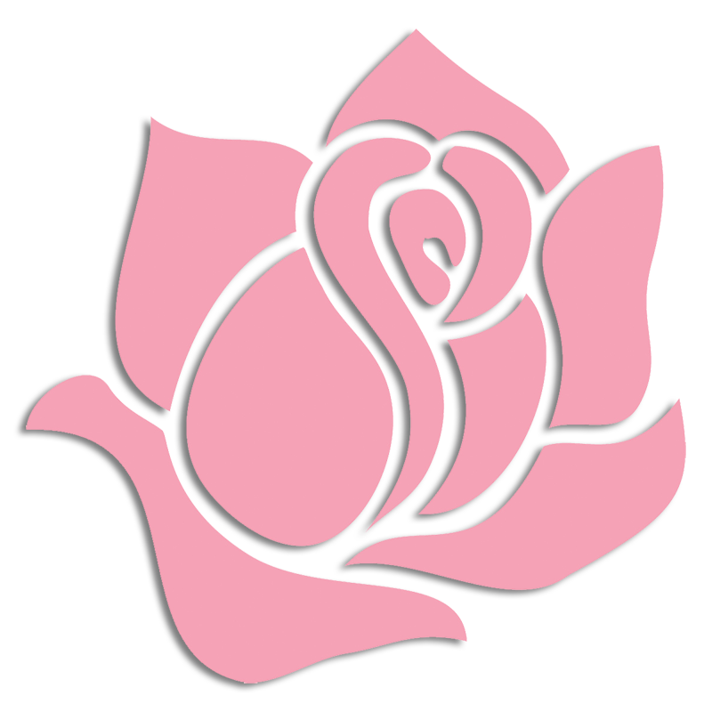 Delta Zeta Flower - Pink Killarney Rose