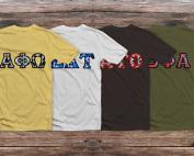 Four T-Shirts Mockup