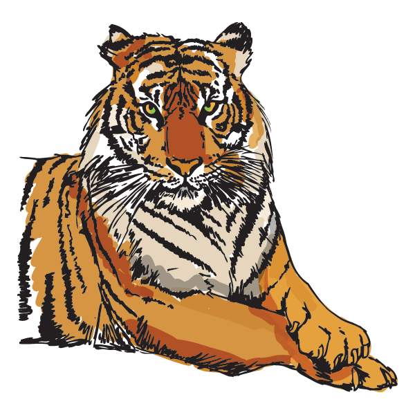 Iota Nu Delta Mascot - Bengal Tiger