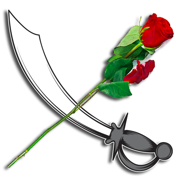Iota Nu Delta Symbol - Rose over Sword