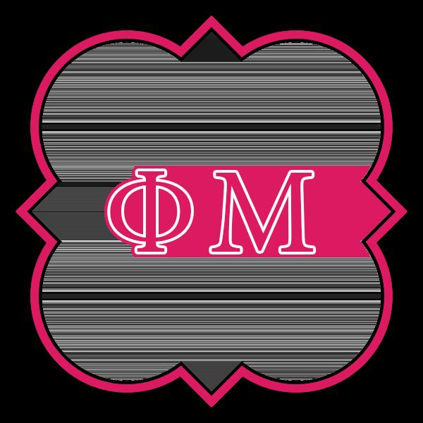 Phi Mu Symbol - Quatrefoil