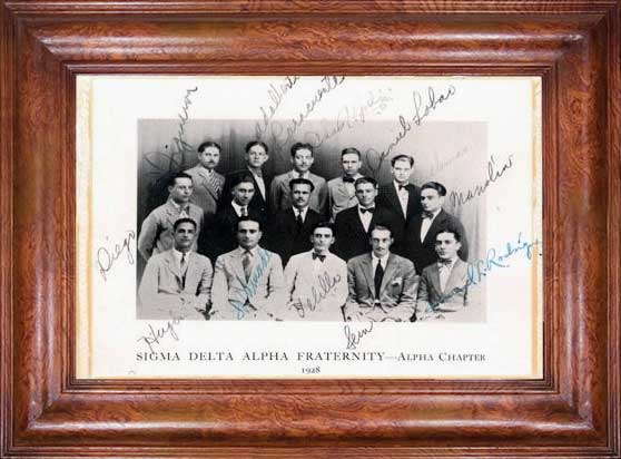 Phi Sigma Alpha Founders and Two of the First Members to Join