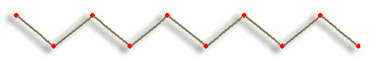 Regular Apeirogon Zig-Zag Stitch