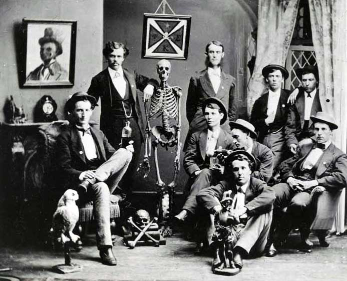 The Phi Kappa Sigma chapter at Washington & Jefferson College in 1872