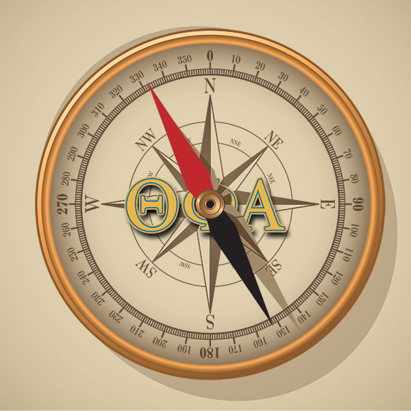 Theta Phi Alpha Symbol - Compass